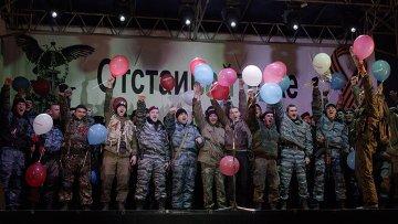 Бойцы спецподразделения Беркут, которые несли дежурство на блокпостах на въезде в Крым, архивное фото