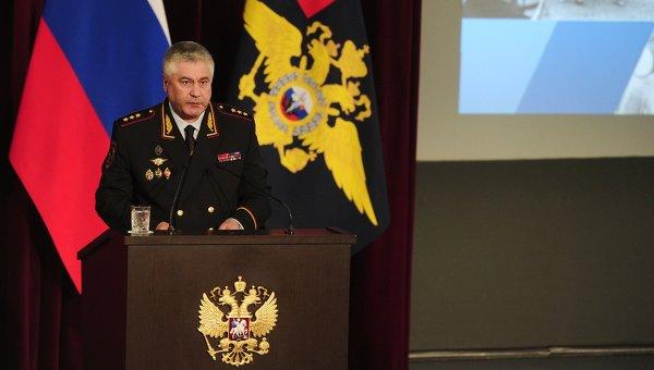 Министр внутренних дел РФ Владимир Колокольцев на коллегии МВД РФ