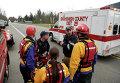 Работа спасателей во время схода оползня в США