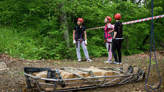 Соревнования юных спасателей в районе бухты Емар во Владивостоке. Архивное фото