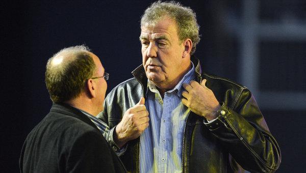 Британский телеведущий программы Top Gear Джереми Кларксон (справа) во время репетиции шоу Top Gear Live в СК Олимпийский в Москве. архивное фото