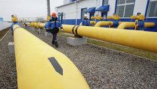 На территории введенной в строй после реконструкции газораспределительной станции Западная ОАО Газпром. Архивное фото