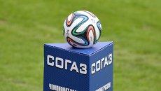 Футбольный мяч российской футбольной премьер-лиги. Архивное фото