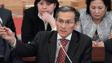 Джоомарт Оторбаев, утвержденный на пост премьер-министра Киргизии.. Архивное фото