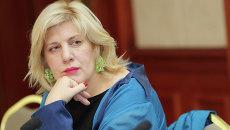 Представитель Организации по безопасности и сотрудничеству в Европе (ОБСЕ) по вопросам свободы СМИ Дунья Миятович. Архивное фото