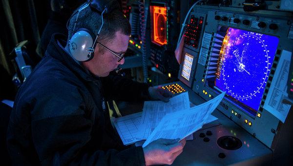 На борту эсминца ВМС США