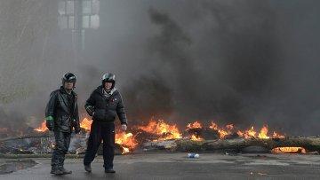 На месте спецоперации в городе Славянске Донецкой области, 13 апреля 2014