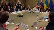 Четырехсторонняя встреча (РФ, США, ЕС и Украина) по урегулированию украинского внутриполитического кризиса, в Женеве