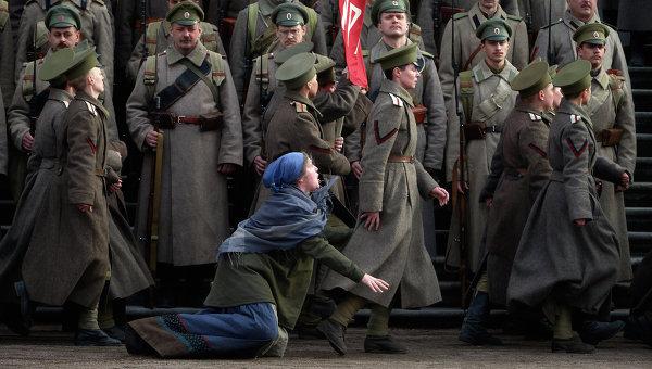 Съемки фильма Батальон смерти в Санкт-Петербурге