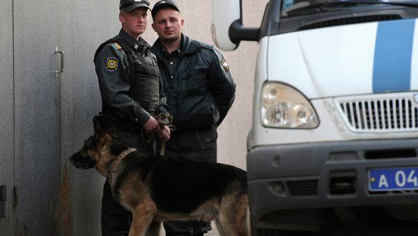 Сотрудники правоохранительных органов в Белгороде