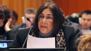 Заместитель министра иностранных дел Никарагуа и посла Никарагуа в ООН Мария Рубиалес
