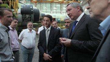 Дмитрий Рогозин на космодроме Байконур