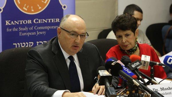 Председатель Европейского еврейского конгресса Вячеслав Кантор во время выступления в Тель-Авивском университете