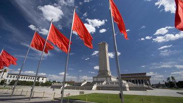 Площадь Тяньаньмэнь в центре Пекина. Архивное фото