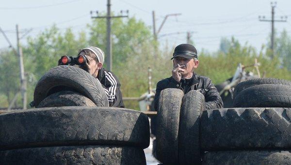 Блокпост народного ополчения в Донецкой области. Архивное фото
