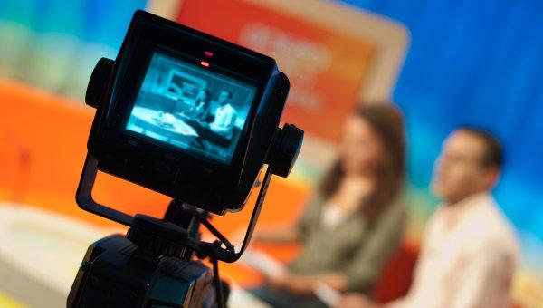 Телевизионная передача. Архивное фото