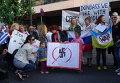 Митинг в Афинах против нацизма на Украине