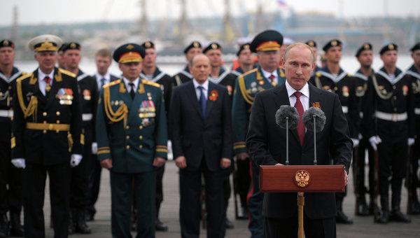 Владимир Путин выступает 9 мая в Севастополе
