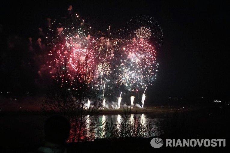 Салют в День Победы в Томске. 9 мая 2014 г