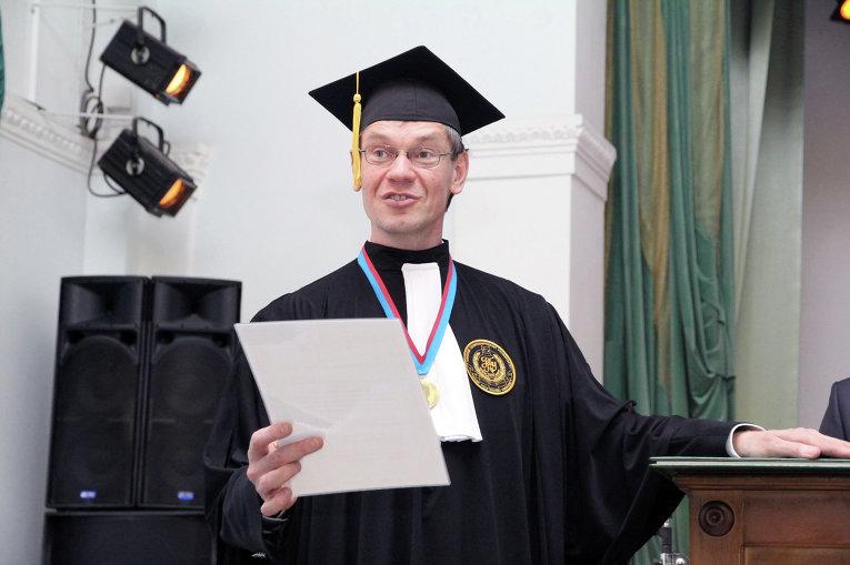 Церемония инаугурации почетного профессора Томского политехнического университета Валентина Попова