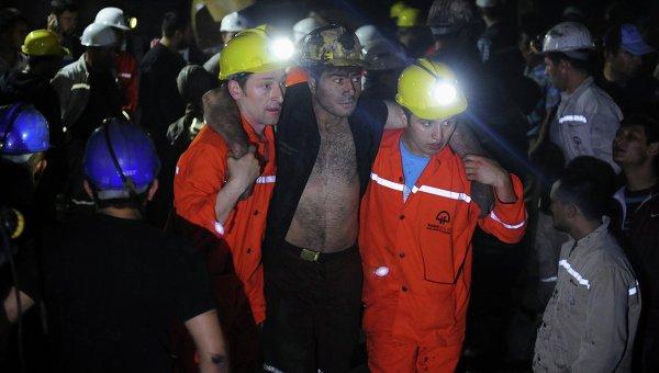 Пострадавшие при обрушении шахты в Турции