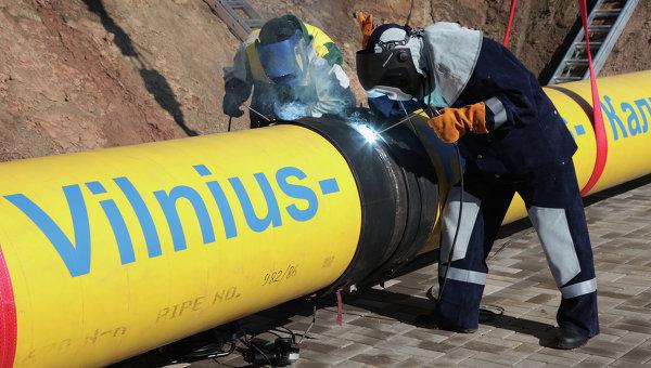 Участок газопровода Минск-Вильнюс-Каунас-Калининград в Литве. Архивное фото