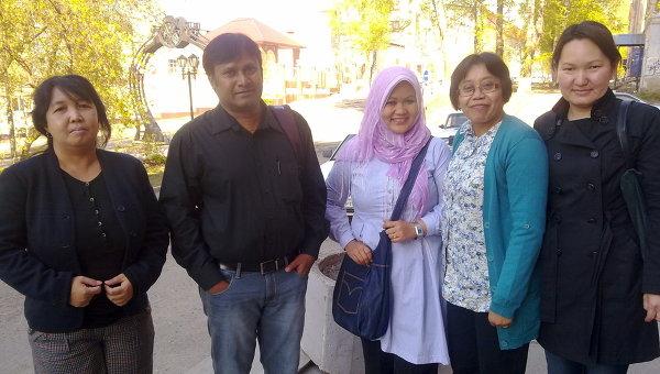 Преподаватели русского языка из стран Азии, приехавшие в Томск на учебу