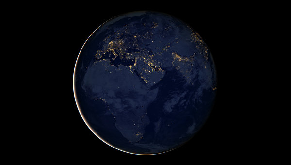 Космический снимок Земли. Архивное фото