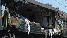 Пассажирский и грузовой поезда столкнулись в Подмосковье. Архивное фото