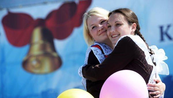 Последний звонок для выпускников российских школ. Архивное фото