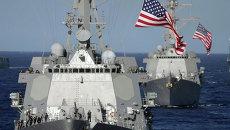 Ракетные эсминцы ВМС США в Тихом океане. Архивное фото