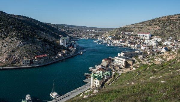Вид города Балаклавы и Балаклавской бухты