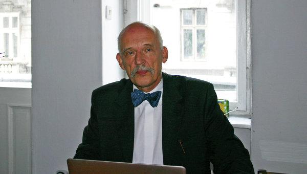 Лидер партии «Новые правые Януша Корвин-Микке» Януш Корвин-Микке. Архивное фото