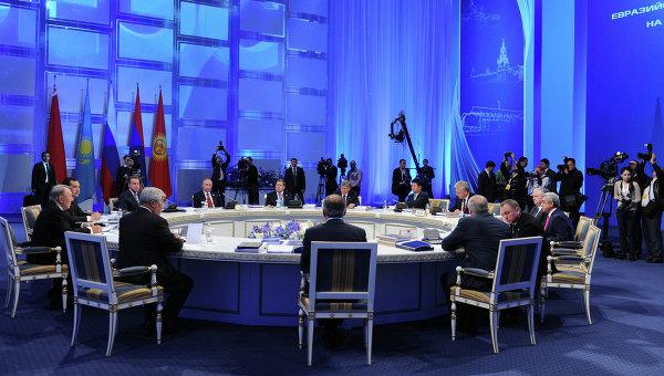 Заседание расширенного состава Высшего Евразийского экономического совета в Астане. Архивное фото.