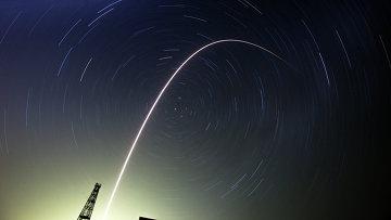Запуск спутника, архивное фото.