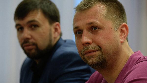 Глава президиума Верховного совета Донецкой Народной Республики Денис Пушилин и премьер-министр ДНР Александр Бородай