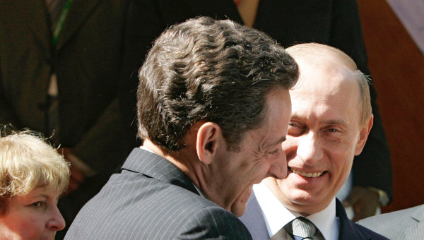 Николя Саркози и Владимир Путин, архивное фото
