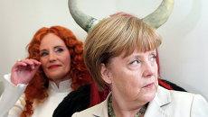 Канцлер Германии Ангела Меркель перед началом заседания Христианско-демократической партии в Берлине