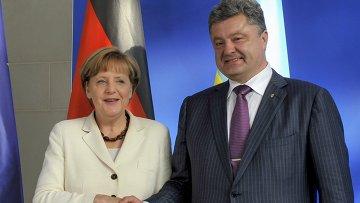 Ангела Меркель и Петр Порошенко. Архивное фото