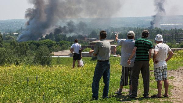 Ситуация в Славянске, архивное фото