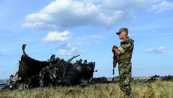 Место падения самолета ИЛ-76 ВВС Украины