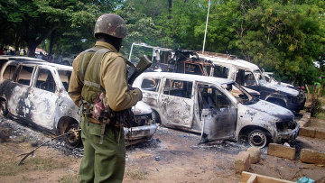 Сотрудник кенийских сил безопасности. Архивное фото.