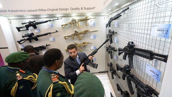 Стенд конерна Калашников на выставке вооружений и военной техники Eurosatory 2014. Архивное фото