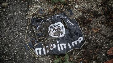 Флаг радикальной исламистской организации Исламское государство, архивное фото