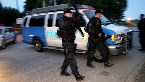Сотрудники шведской полиции, архивное фото