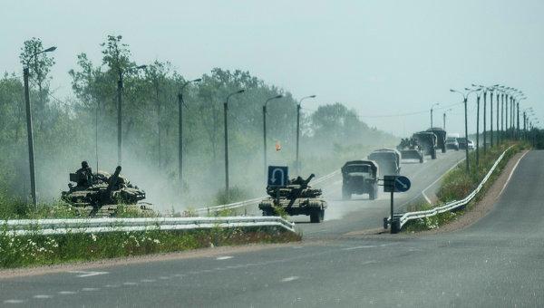 Военная техника украинской армии в Донецкой области. 20 июня 2014