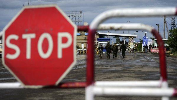 Пограничный пункт пропуска Изварино после обстрела