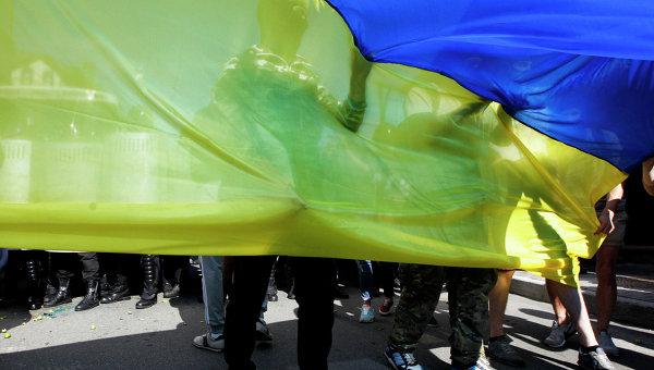 Митинг у Российского посольства в Киеве, архивное фото