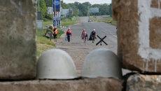 Блокпост бойцов народного ополчения возле Краматорска. Архивное фото