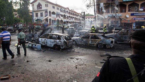 Взрыв в торговом центре в Нигерии